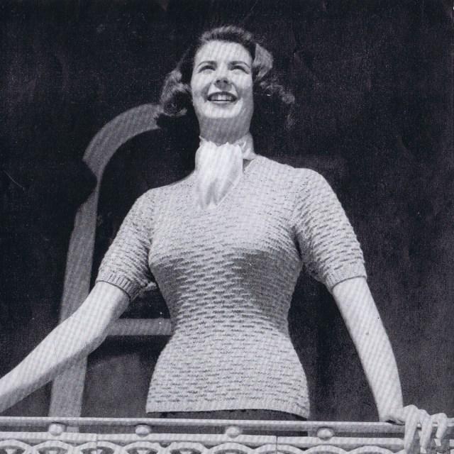 Vintage Knitting Patterns Blouse Jacket Cardigan Sweater Hughes