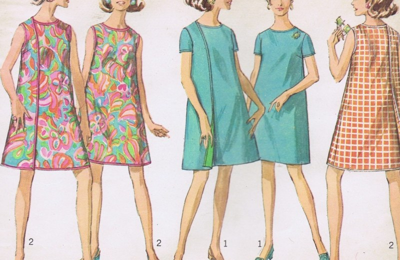 VINTAGE 7484 SIMPLICITY WRAP DRESS SEWING PATTERN
