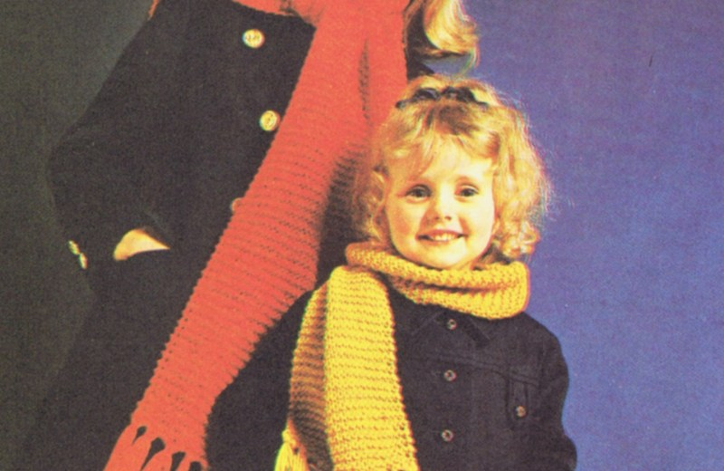 Vintage Knitting Crochet Tutorial Lesson 1 Scarfs