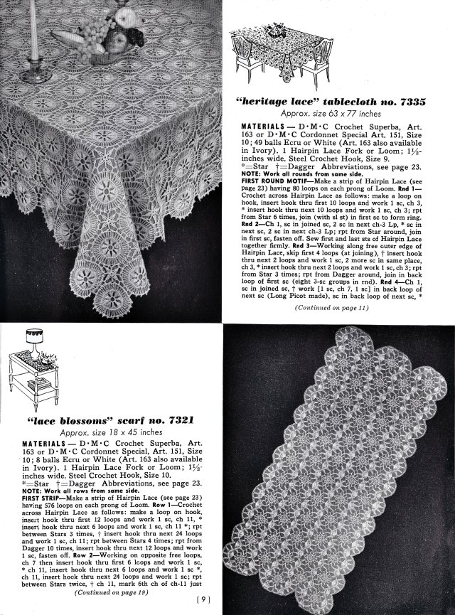 Free Vintage Hairpin Maltese Lace Patterns motifs