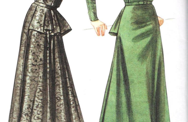 8768 vogue vintage dress size 12-18