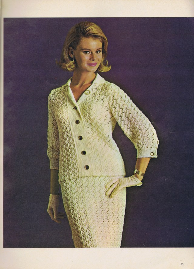 knit lace suit diamond