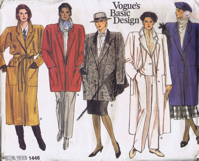 Vogue 1446 Sewing Patterns Winter Coats Jackets
