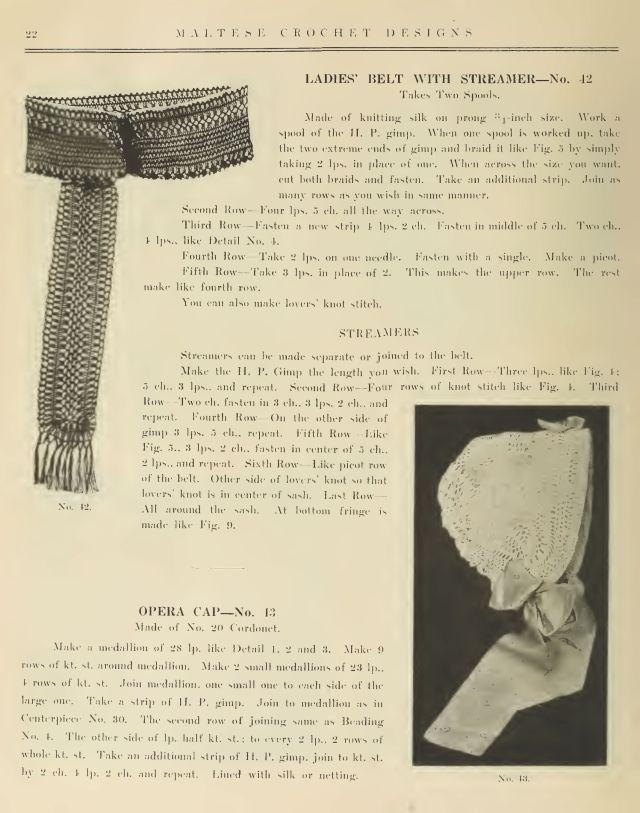 Maltese Hair Pin Lace Crochet 20