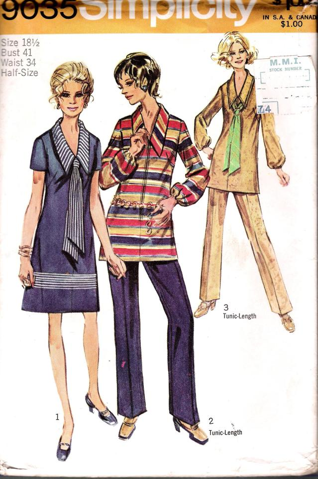 Simplicity 9035 Dress Half Size