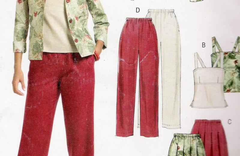 McCalls 5081 Jacket Pant Top Pattern Size 14-20