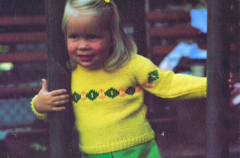3 Toddler Sweater Knitting Patterns Yellow Pullover