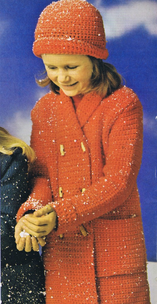 Free Crochet Pattern Vintage Girl's Coat & Hat