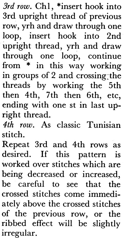 Winding the yarn around the hook for a buttonhole