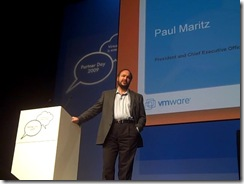 Paul Maritz Partner Day VMworld Europe 2009 Cannes