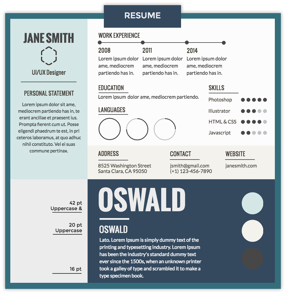 resume best resume font combinations attractive font and typeface