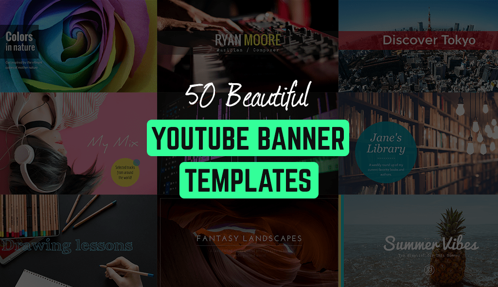 50 Free YouTube Banner Templates  Edit and Download    Visual     50 beautiful youtube banner templates