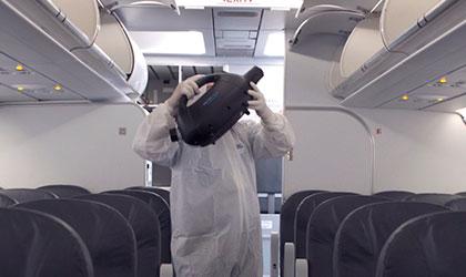 Desinfeccion en aviones