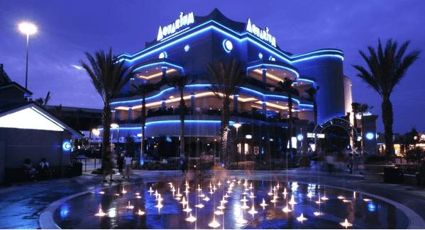 Downtown Aquarium at Night