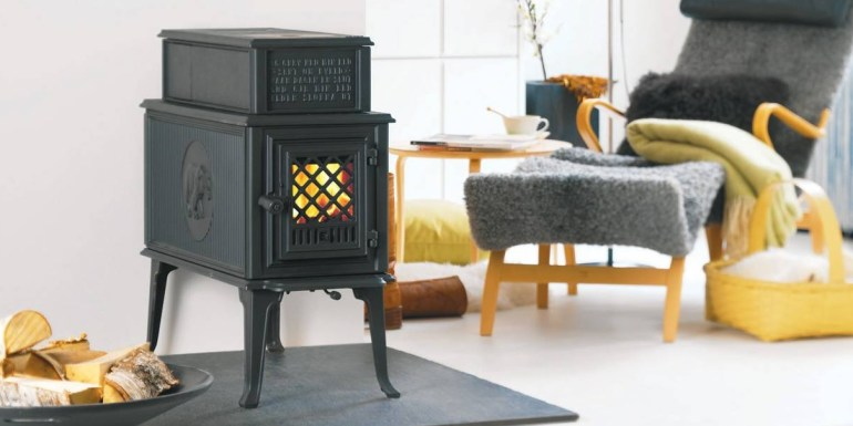 A Norwegian woodstove by the Jotul company, my parents have one too, lovely classic design