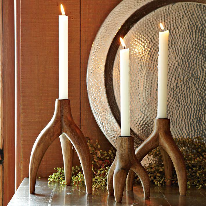 Antler look-a-like candleholders - via A Little Design Help