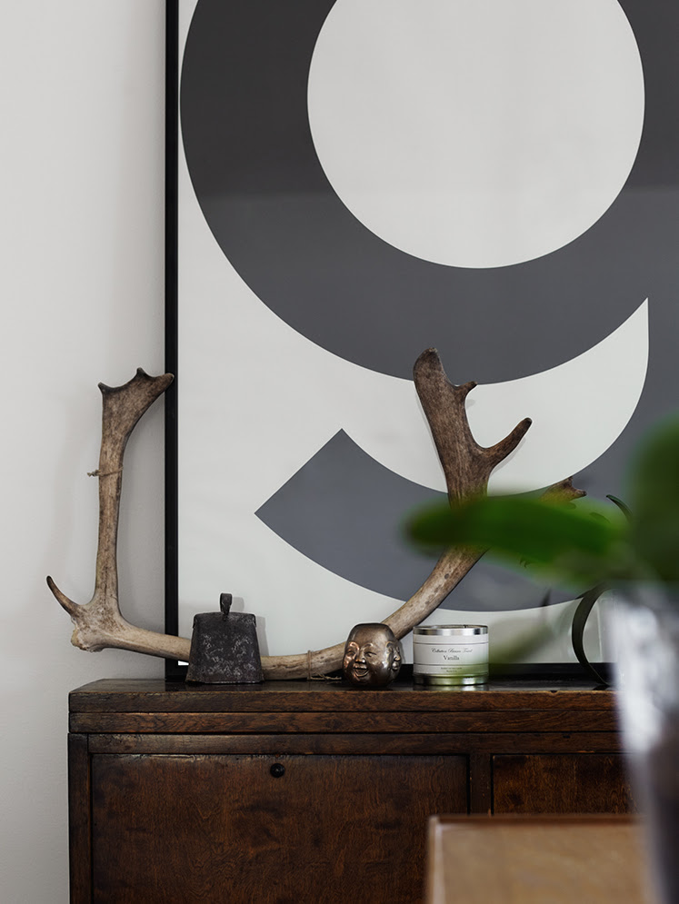 Antlers off the wall styled by Pella Hedeby - via Coco Lapine