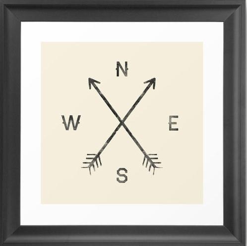 A Compass Print via Dot and Bo