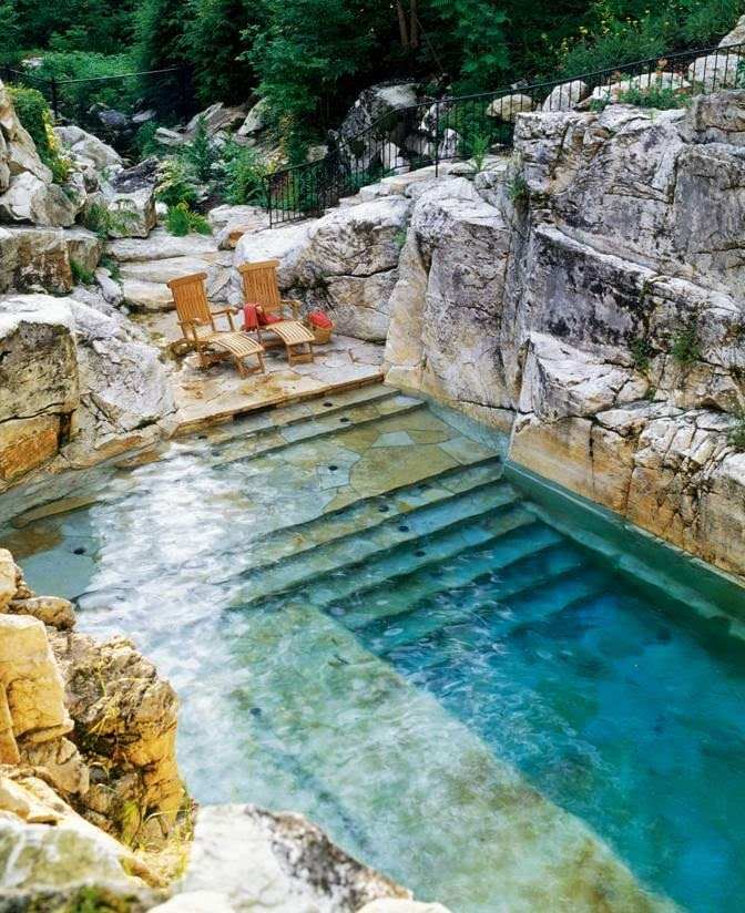 A natural pool (well, almost) - via Castles and Crowns