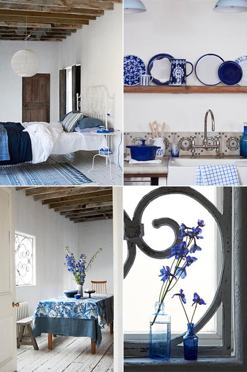 Classic blue accents - via Huis-Inrichten