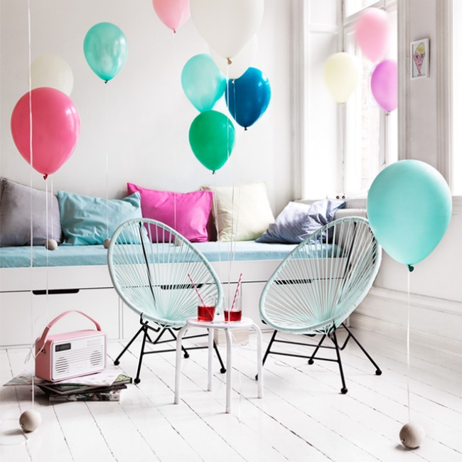 Some mini-Acapulco's for the children's room - via Simply Fabulous Chic