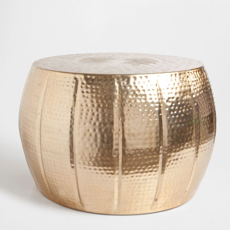 Round brass stool via Zara Home