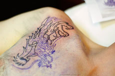 tattoo - de kop van de draak