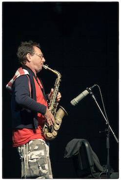 John Zorn door Bruno Bollaert