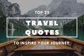 Featured image travel quote Top 25 Meaningful Travel Quotes [Updated 2021]