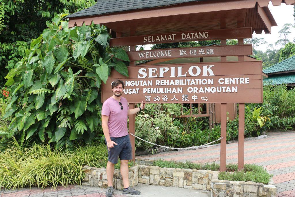 sepilok entrance on borneo
