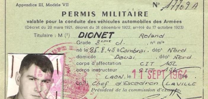permis militaire