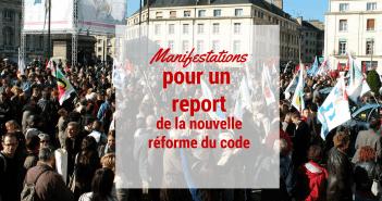 Manifestations pour un report de la nouvelle épreuve du code