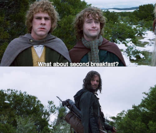 The seven daily Hobbit meals