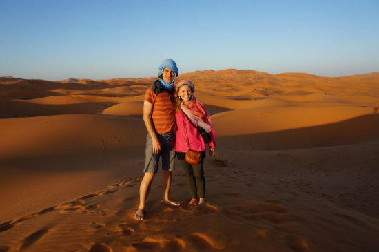 jen and ted in Morocco