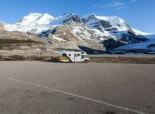 Campervan Parked Near Glacier