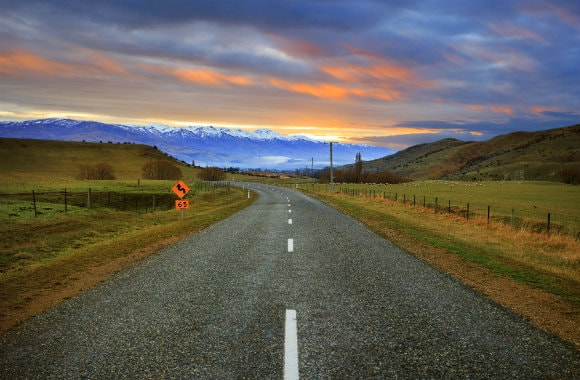 Country Road in New Zealand