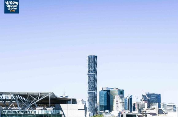View of Brisbane skyline from the VroomVroomVroom office