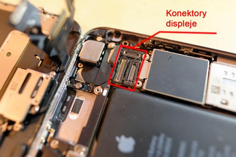 iPhone - konektory displeje