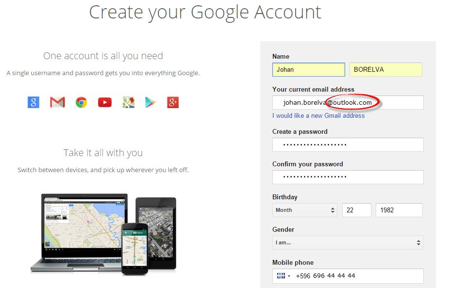 vytein-google-account