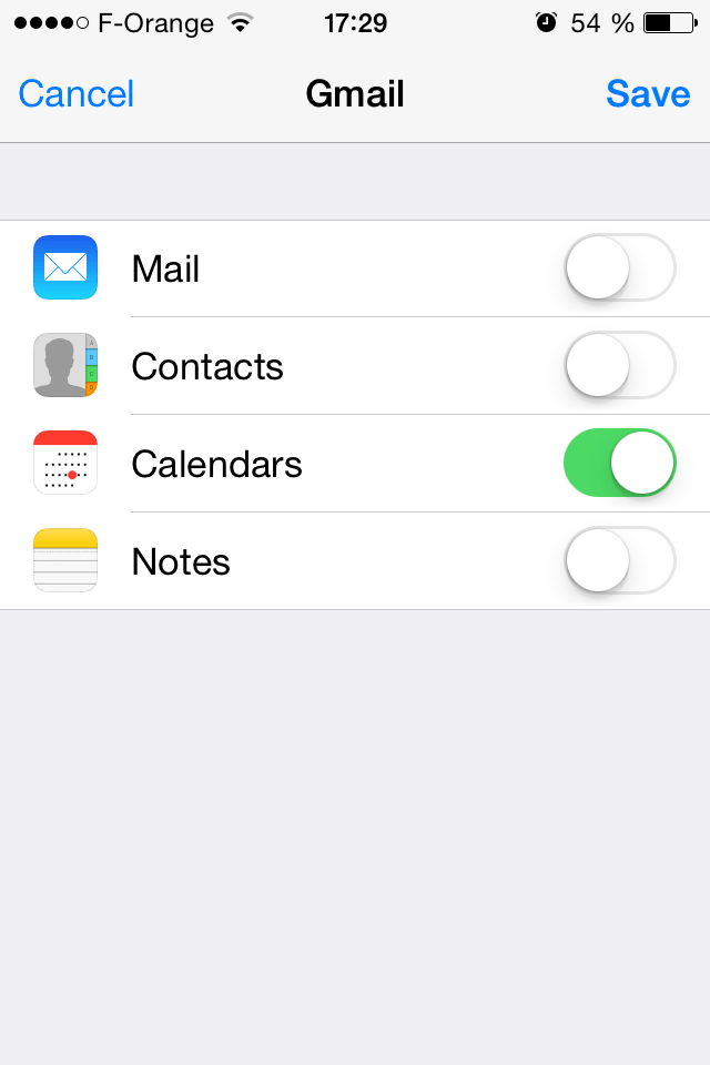 change gmail password iphone mail