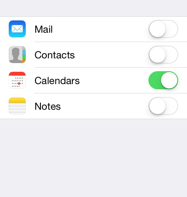 Google calendar : default calendar on iPhone