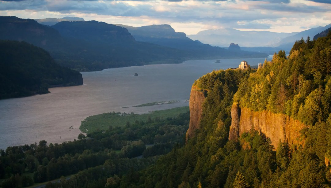 Vista House on Crown Point along the Columbia River Gorge