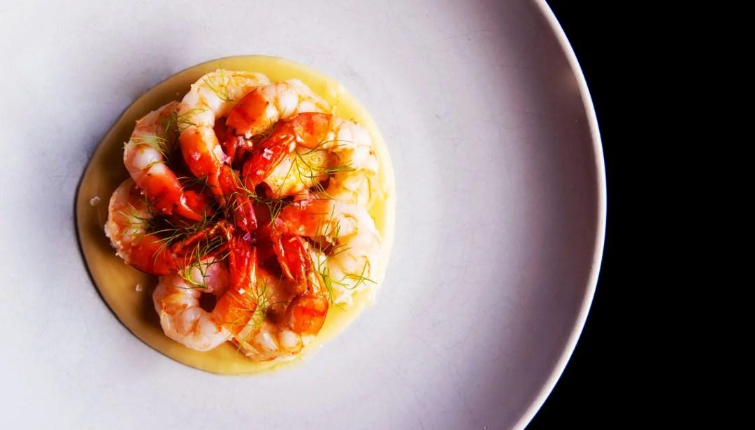 Grilled prawns at The Bradley restaurant in Richland, Washington