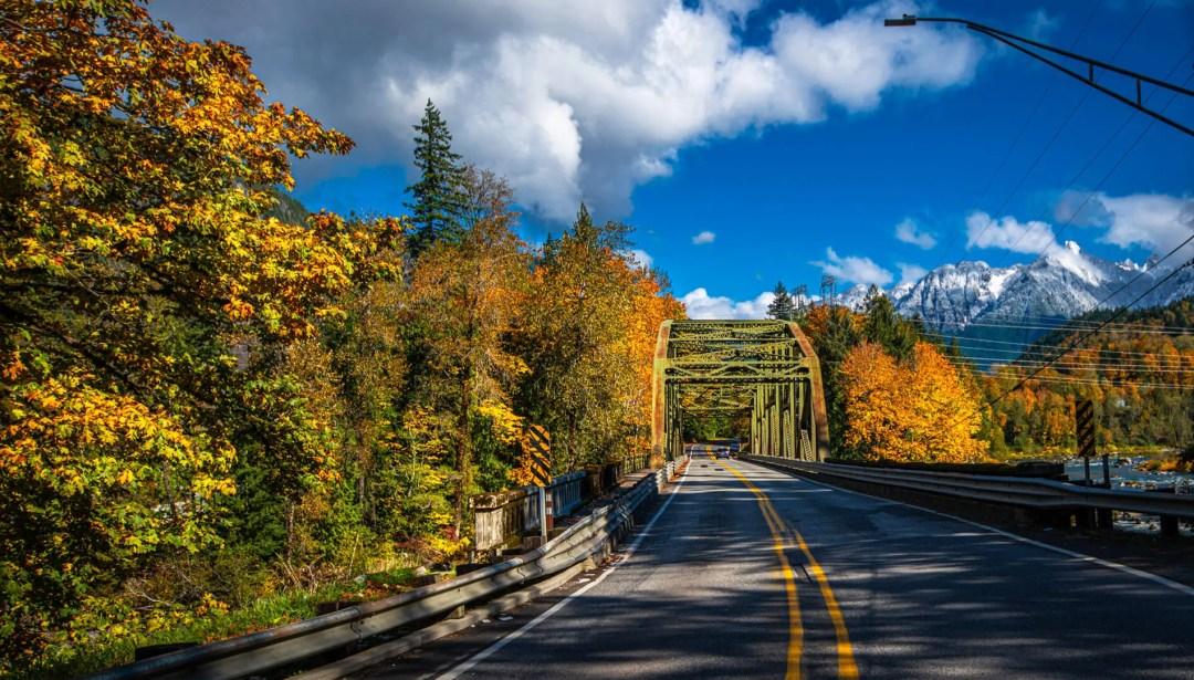Falls colors on Stevens Pass