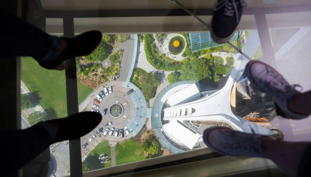 Feet of Space Needle visitors