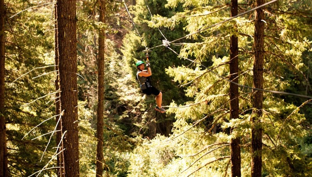 Ziplining in Leavenworth