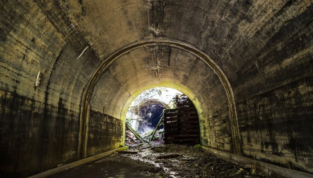Old Train Tunnel at Iron Goat Trail