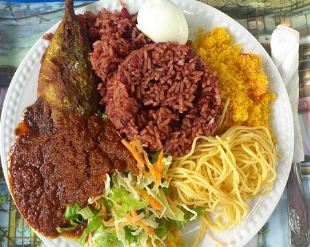 Ghanaian Waakye Food
