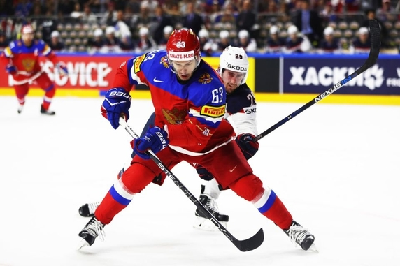 Hockey Russia vs USA sports