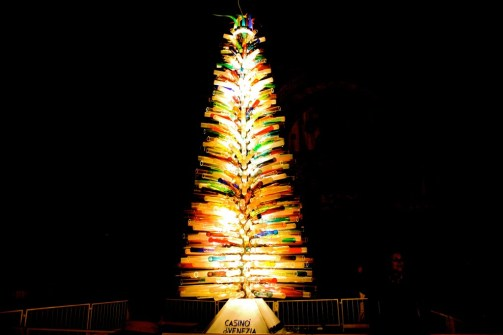 Murano glass Christmas tree in venice